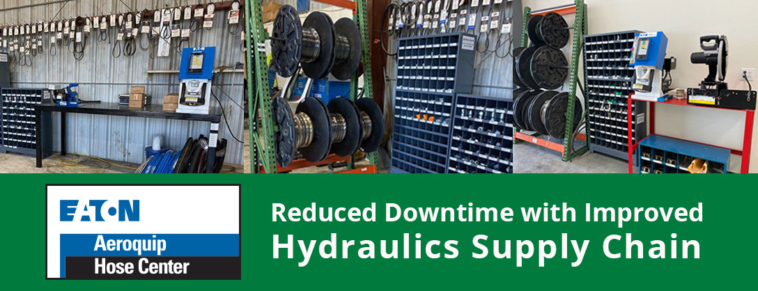 Reduced downtime with improved hydraulics supply chain